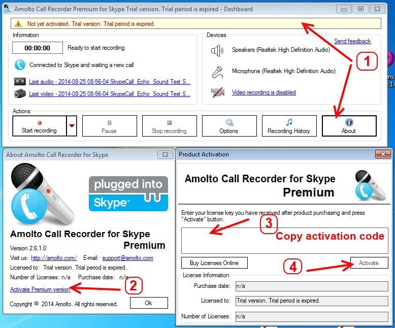 Amolto Call Recorder Premium for Skype 3.19.2.0 Crack [Latest]