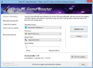 Chris-PC Game Booster 5.14.14 + Crack [Latest Version] Free Download 2021